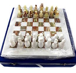 Шахматы из натурального оникса 30*30 см