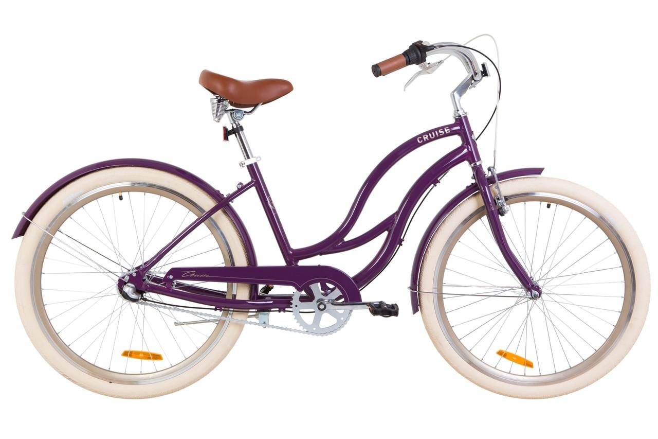 """Велосипед городской 26"""" Dorozhnik CRUISE PH 2019 (фиолетовый)"""