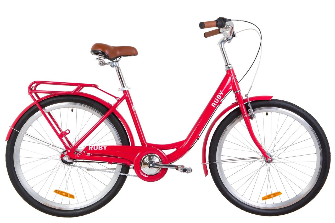 """Городской велосипед 26"""" Dorozhnik RUBY PH 2019 (красный)"""