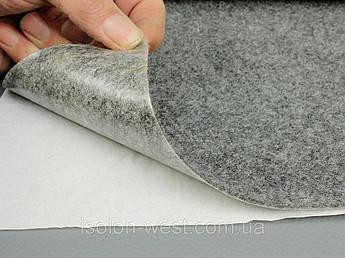 Карпет автомобильный Серый самоклейка (лист 95х65 см), толщина 2.2 мм, плотность 300 г/м2
