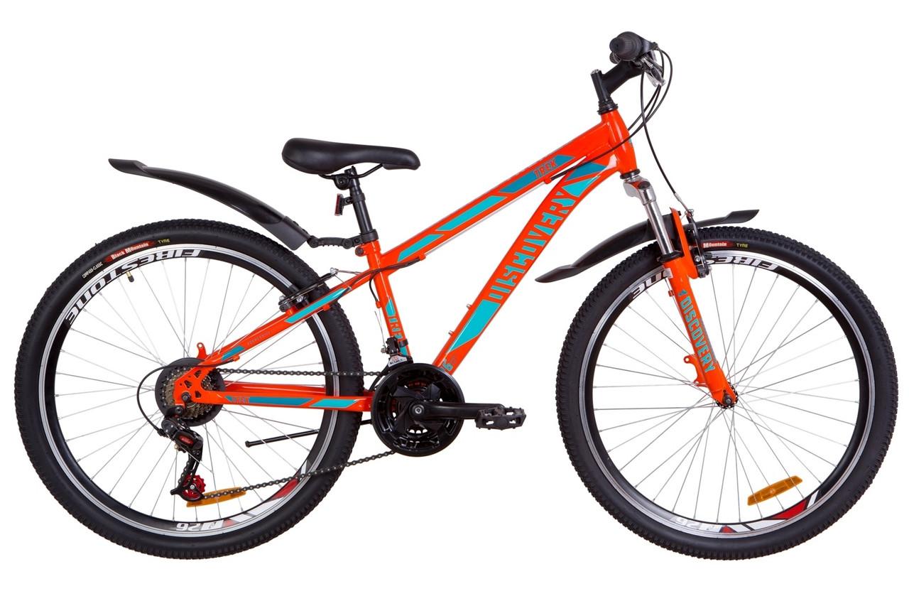 """Горный велосипед 26"""" Discovery TREK 2019 (оранжево-бирюзовый)"""