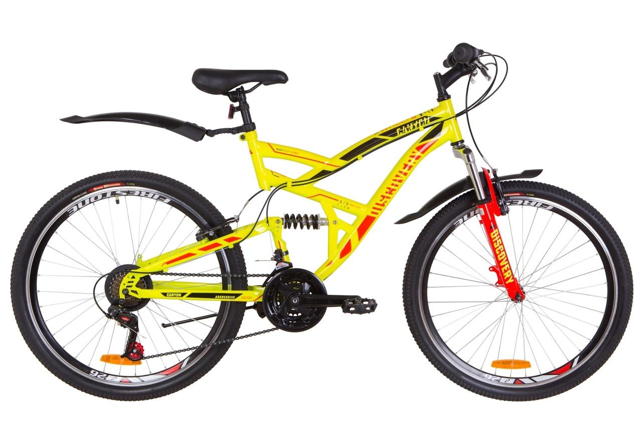 """Горный велосипед 26"""" Discovery CANYON 2019 (желтый)"""