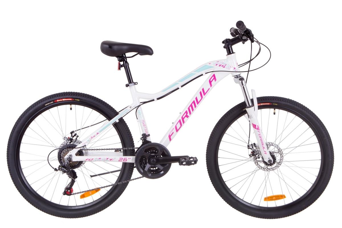 """Горный велосипед 26"""" Formula MYSTIQUE 1.0 DD 2019 (бело-голубой с фиолетовым)"""