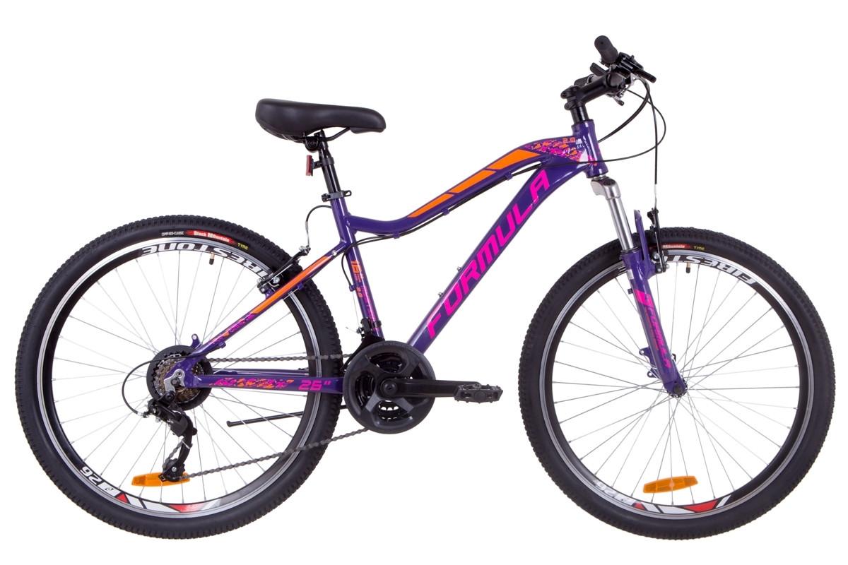"""Горный велосипед 26"""" Formula MYSTIQUE 2.0 2019 (фиолетово-оранжевый)"""