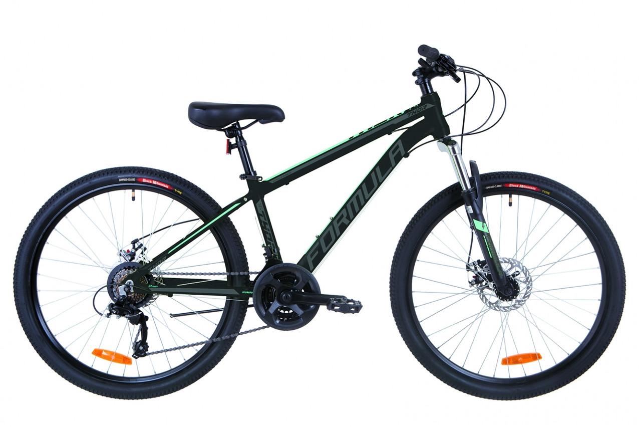 """Горный велосипед 26"""" Formula THOR 2.0 DD 2019 (черно-серый с бирюзовым (м))"""