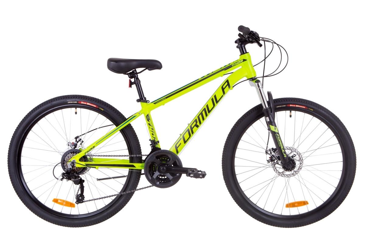 """Горный велосипед 26"""" Formula THOR 2.0 DD 2019 (салатно-черный с бирюзовым (м))"""