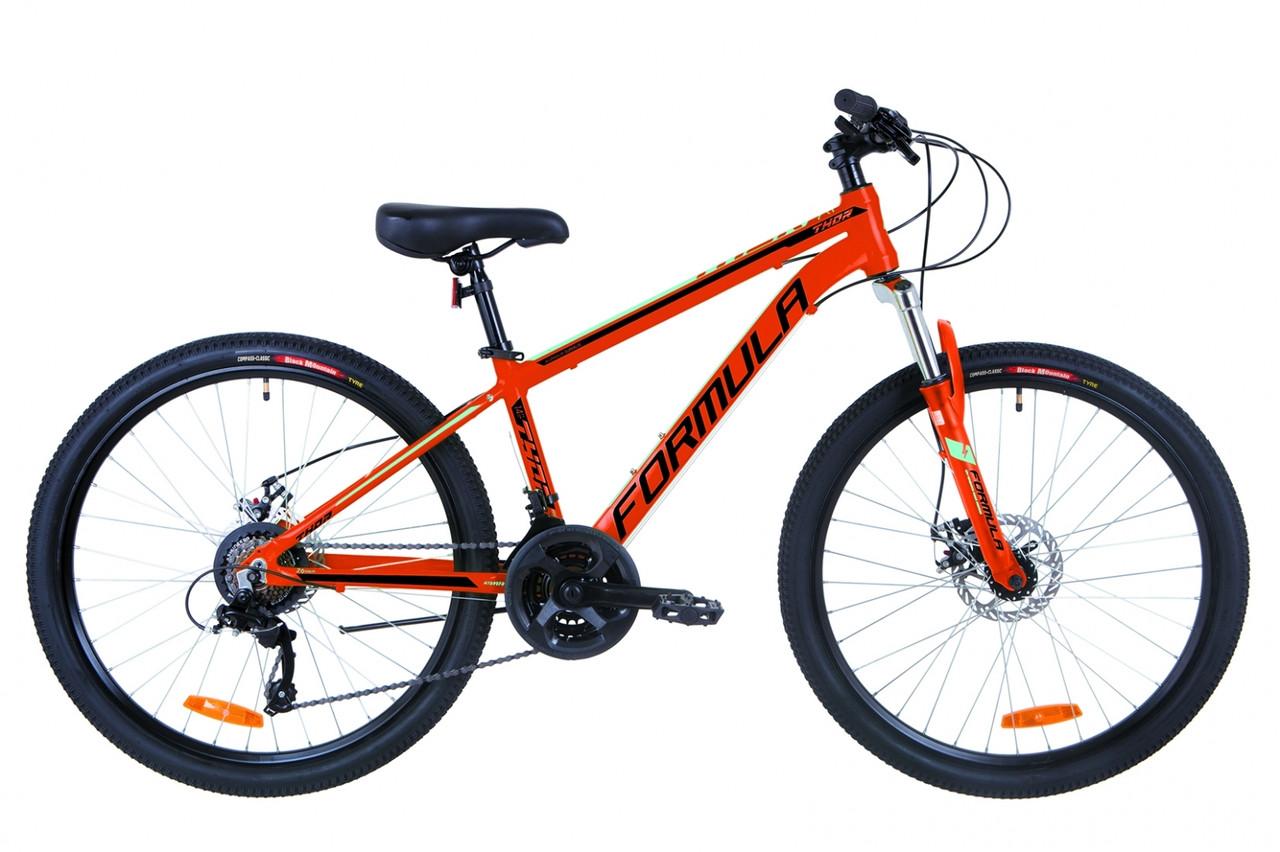 """Горный велосипед 26"""" Formula THOR 2.0 DD 2019 (оранжево-черный с бирюзовым)"""