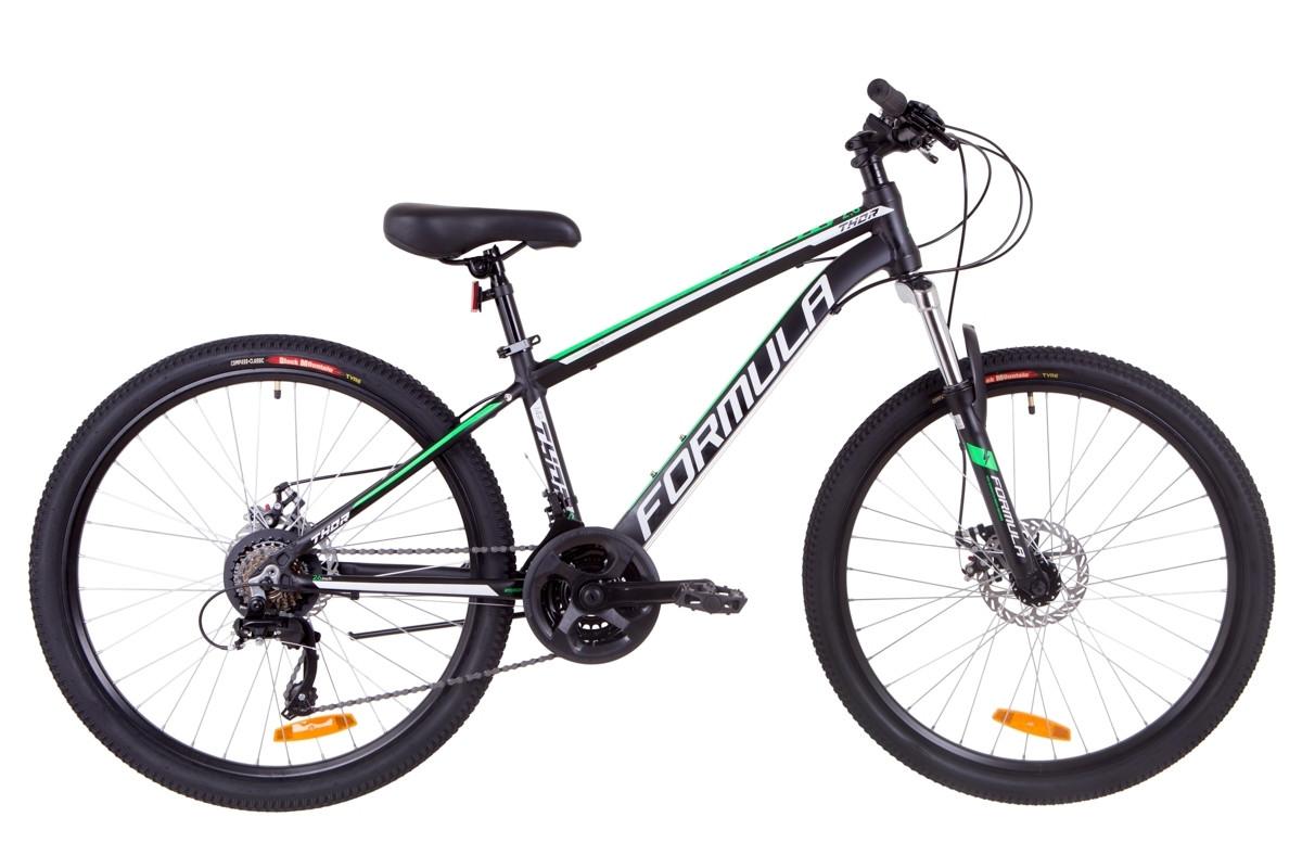 """Горный велосипед 26"""" Formula THOR 2.0 DD 2019 (черно-зеленый (м))"""