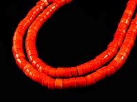 Заготівля з корала помаранчевого-рожевий 7.7 мм, фото 1