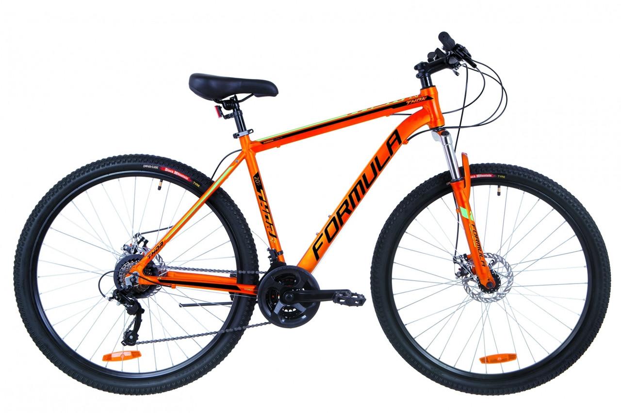 """Горный велосипед 29"""" Formula THOR 2.0 DD 2019 (оранжево-черный с бирюзовым)"""
