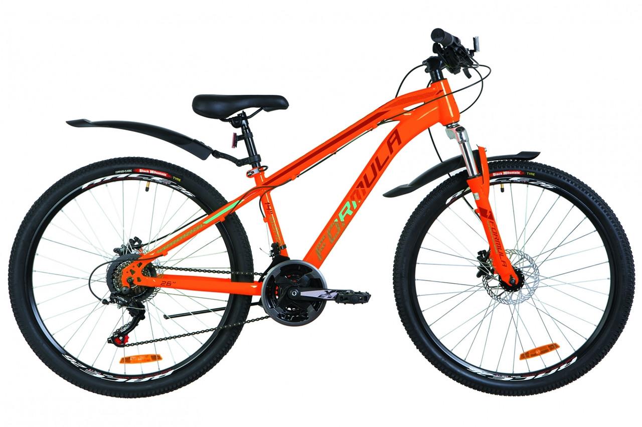"""Горный велосипед 26"""" Formula DAKAR DD 2019 (оранжево-бирюзовый)"""