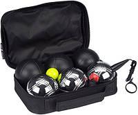 Набор для игры в Петанк Бочче Get & Go® 6 шаров DELUXE (MAT/CHROME) 52JT, фото 1