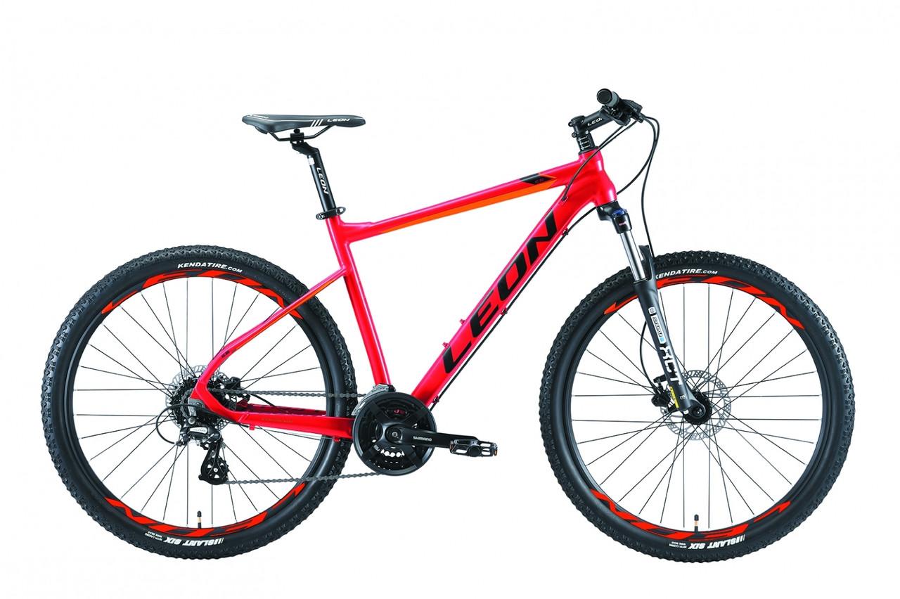"""Горный велосипед 27.5"""" Leon XC 80 HDD 2019 (красно-оранжевый)"""