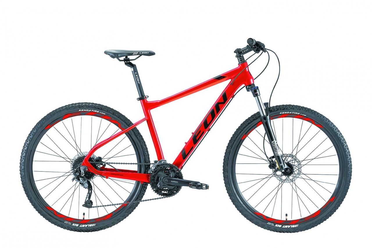 """Горный велосипед 27.5"""" Leon XC 70 HDD 2019 (красно-оранжевый)"""