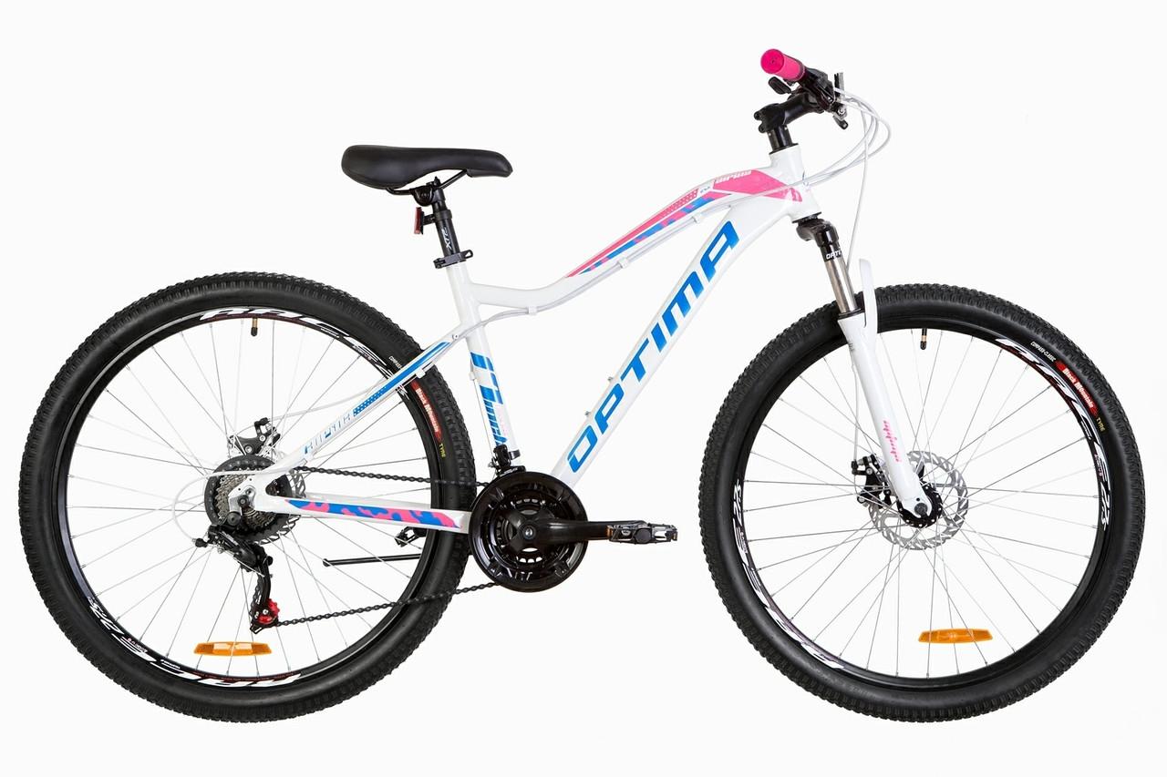 """Горный велосипед 27.5"""" Optimabikes ALPINA DD 2019 (бело-розовый с голубым)"""