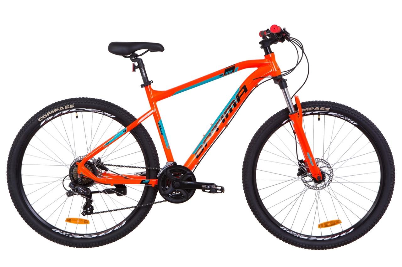 """Горный велосипед 29"""" Optimabikes F-1 HDD 2019 (оранжево-бирюзовый)"""
