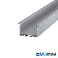 Профиль для светодиодной ленты врезной LSV-40 алюминиевый (2м, 3м, 5м) 54(44)x30 мм, фото 1