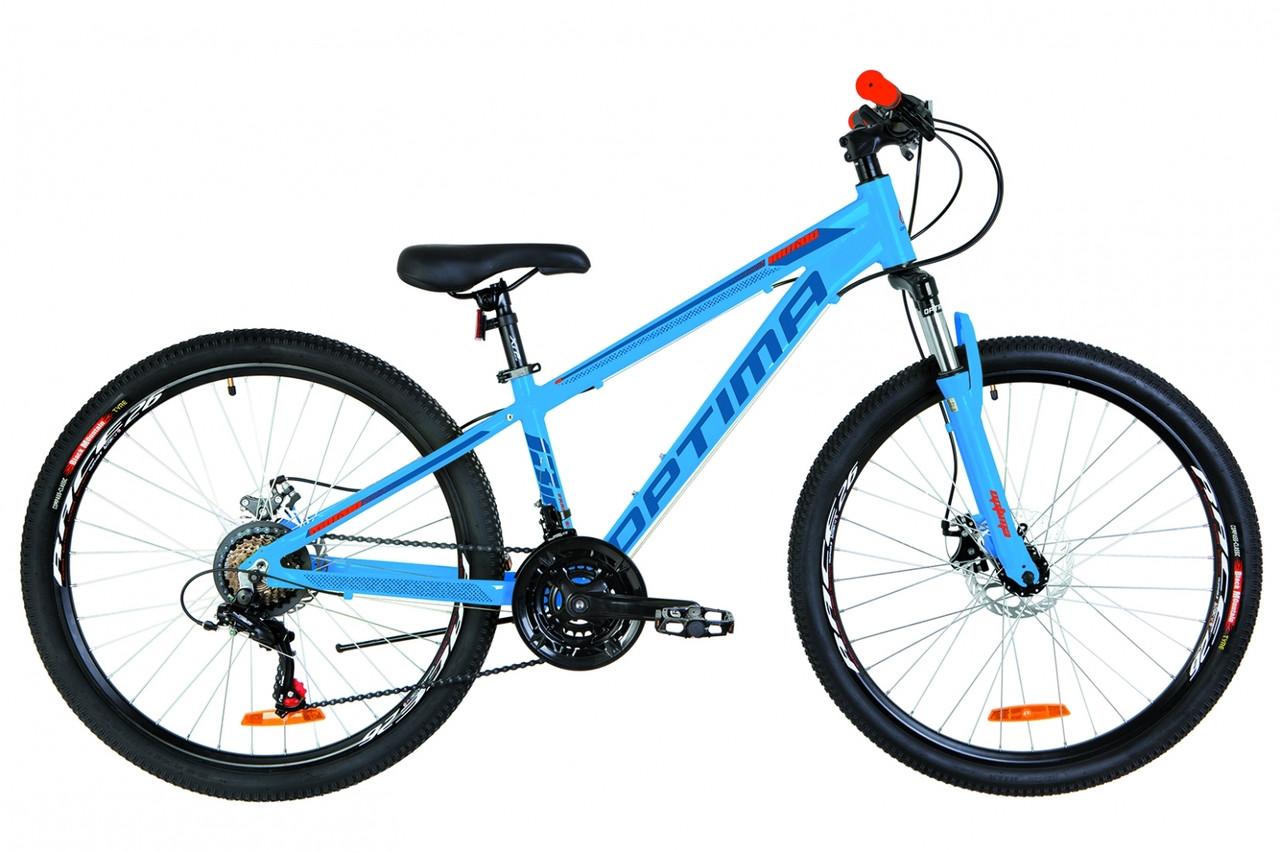 """Горный велосипед 26"""" Optimabikes MOTION DD 2019 (сине-оранжевый )"""