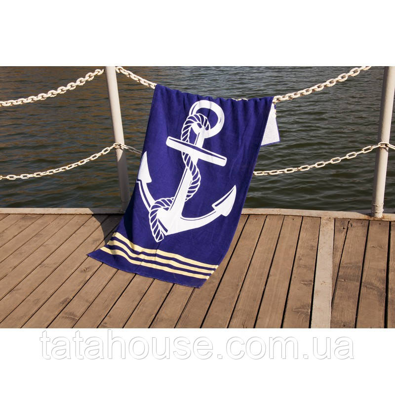 Полотенце Lotus пляжное - Deep Sea 75*150 велюр