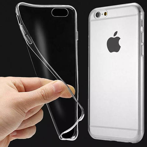 Защитный силиконовый чехол для iPhone 6 / iPhone 6S прозрачный 4,7 дюйма, фото 2