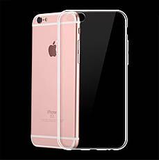 Защитный силиконовый чехол для iPhone 6 / iPhone 6S прозрачный 4,7 дюйма, фото 3