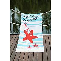 Полотенце Lotus пляжное - Hello Summer 75*150 велюр
