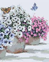 Картины по номерам Цветы в горшочках Худ МакНейл Ричард (KH2933) 40 х 50 см Идейка