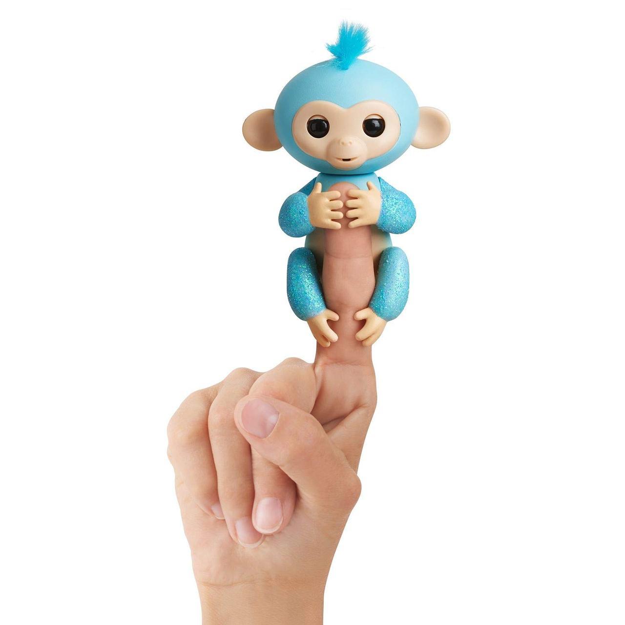 Интерактивная обезьянка Fingerlings на палец Амелия бирюзовая