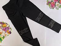 Лосины на девочку, р. 116-164, черный, фото 1