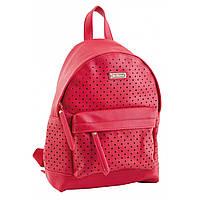 Рюкзак женский YES Weekend из экокожи 23.5*33*11 см малиновый (553247)