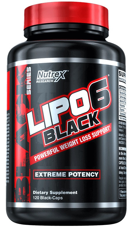 Жиросжигатель Nutrex Research - Lipo 6 Black Extreme Potency (120 капсул)