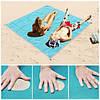 Пляжный коврик 200×200 подстилка антипесок Sand-free Mat Голубой, фото 4