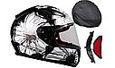 Мотошлем Ls2 FF353 Rapid Poppies (Black White), фото 2