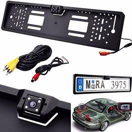 Автомобільна камера заднього виду в рамці номери JX-9488