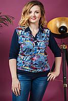 Женская блуза Батник Абстракция. Размер 50-58