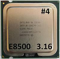 Процессор ЛОТ #4 Intel Core 2 Duo E8500 E0 SLB9K 3.16 GHz 6 MB Cache 1333 MHz FSB Socket 775 Б/У, фото 1