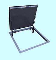 Напольный люк REVIZIO PREMIUM на газовых амортизаторах в погреб, подвал под плитку, гранит, мрамор