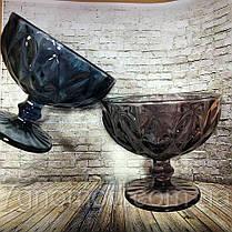 Креманка из цветного розового стекла Изольда , фото 3