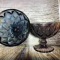 Креманка из цветного розового стекла Изольда , фото 2