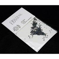 Камни-стразы Сваровски пикси черные с голубым отливом