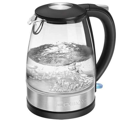 Стеклянный электрический чайник на 1,7 л Clatronic WKS-3680