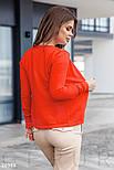 Трикотажная кофта на пуговицах оранжевая, фото 3