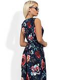Платье миди на запах с цветочным принтом Д-1084, фото 2