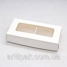 Коробка 180*90*35 з вікном та розділювачем БІЛА