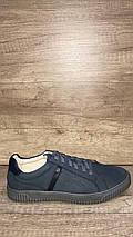 Туфли летние из натурального нубука МИДА 130126  джинс., фото 2