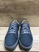 Туфли летние из натурального нубука МИДА 130126  джинс., фото 3