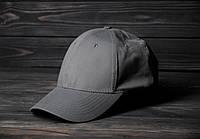 Кепка Бейсболка летняя простая без лого серая шестиклинка, фото 1