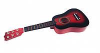 Гитара M 1370Brown (Коричневый) 52см,струны 6шт,запасная струна,медиатор,в кор-ке,53,5-20-6,5см (Красный)