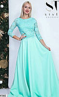 Нарядный вечерний юбочный женский костюм 42-46 размеров, 3 цвета