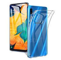 Прозрачный силиконовый чехол для Samsung Galaxy A30 2019 A305